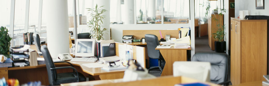 Photograph of a professionally maintained office space.